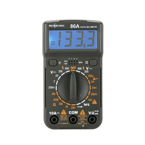 RICHMETERS RM86A Pocket Size Mini Digital Multimeter