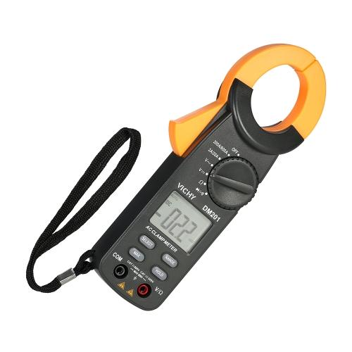 VICHY 1999 cuenta pinza amperimétrica digital Voltaje de CA / CC Corriente de CA Rango automático Pantalla LCD portátil de mano Alcance automático Multímetro de pinza Probador de diodo de resistencia
