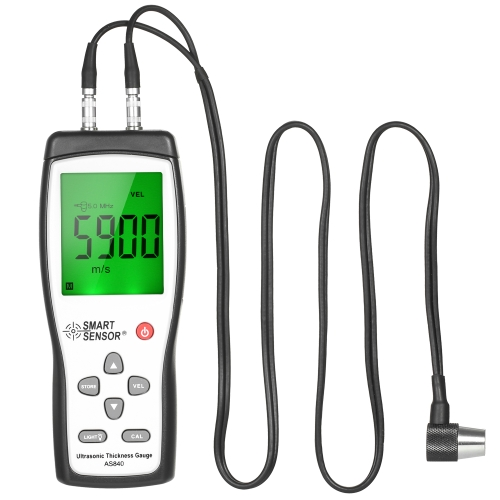 SMART SENSOR Professionnel À Ultrasons Jauge D'épaisseur De Poche LCD Numérique Épaisseur Testeur Profondeur Mètre Gamme 1.2 ~ 225mm Haute Précision