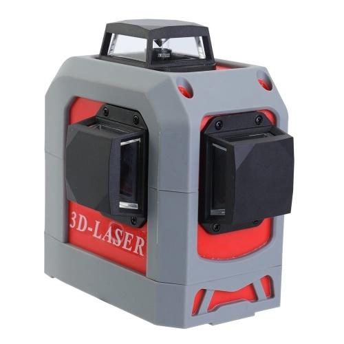 Livellatore IR 3D Autolivellante Super potente Laser a 360 ° Strumento di livellamento linea rossa orizzontale e verticale