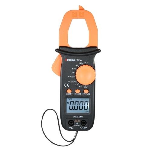 RuoShui Digital Clamp Meter 1999 Conta gamma auto Portatile Multimetro portatile w / Retroilluminazione LCD Diaplay Misurazione AC / DC Tensione AC Corrente Capacità Resistenza Continuità Diodo Tester