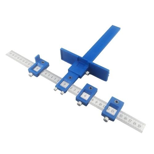 Manicotto dell'armadietto della guida Hardware Maschere di trascinamento per maschere Seghetto per fori di perforazione per legno per l'installazione professionale di maniglie e pomelli su ante e frontali dei cassetti