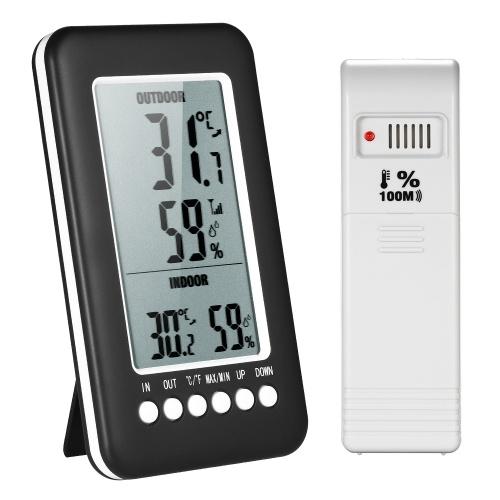 Termometro Igrometro da interno / esterno senza fili LCD digitale