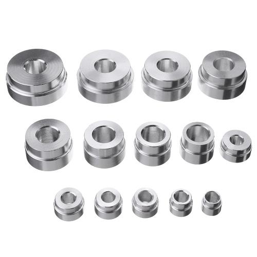 17PCS Bearing Seal Seal Driver Master Set di utensili in lega di alluminio Assale ruota Set Dispositivo di smontaggio Garage Strumenti di riparazione auto