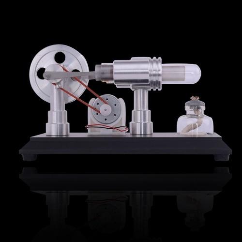 Двухцилиндровый двигатель Micro DIY с двигателем внешнего сгорания. Демонстрация в школе. Обучение в раннем возрасте. фото