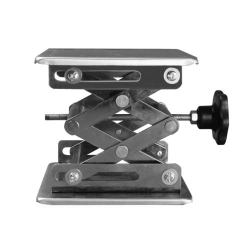 ステンレス鋼ミニ安定ラボスタンド手動リフトライザーリフターラボリフティングプラットフォーム