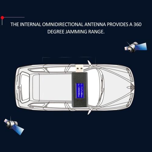 U Disk Type GPS L1 L2 Signal Blocker USB Interface Car Shielding Device with LED Display and Metal Storage Box