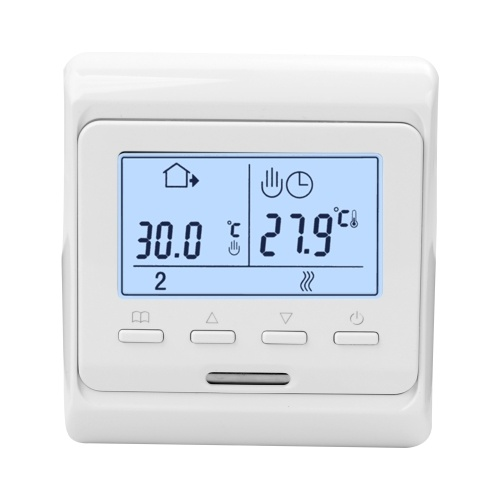Large Power Intelligent Temperature Humidity Controller Thermostat System Weekly Circulation Anti-flammable PC Housing Material Programming Touching Screen