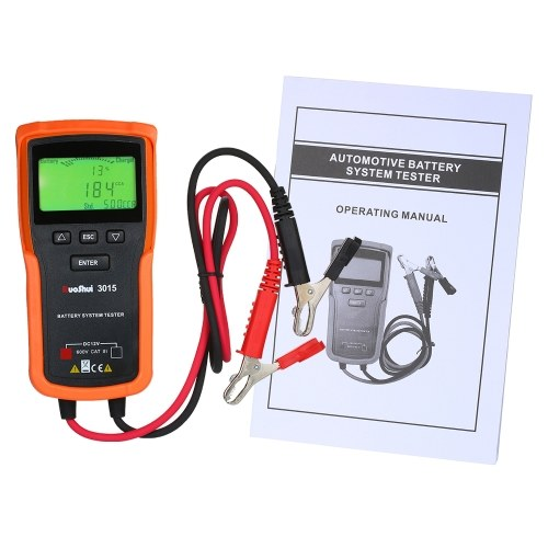 RuoShui 12V Car Battery Tester Analyzer Battery System Tester Lead Acid CCA Load Battery Charge Test Digital Automotive Power Diagnostic Tool