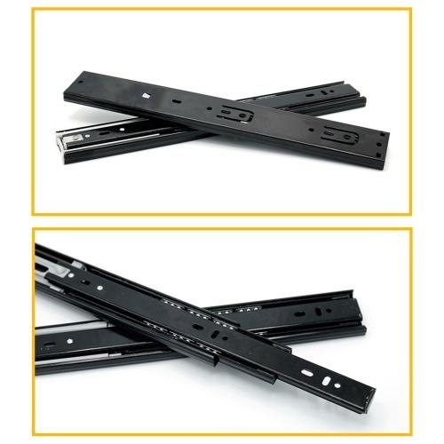 2pcs Drawer Slides Low Noise Ball Bearing Drawer Slides 1-Pair Heavy Duty Drawer Slides Drawer Guide Rail Hydraulically Damped Drawer Rail