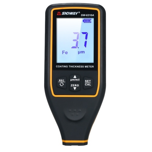SNDWAY Digital Paint Coating Thickness Gauge Handheld Coatings Thickness Tester Coating Thickness Meter with Auto Function Fe/NF Probe Car Detector Automotive Coating Refinishing Cars Paint Tester Meter with Rotate Screen