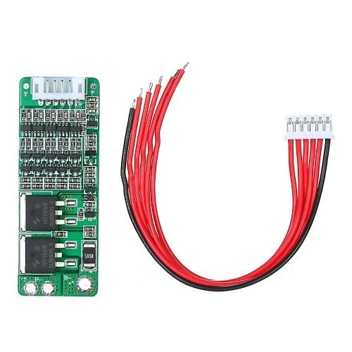 5S 15A Batteria agli ioni di litio BMS 18650 Scheda di protezione del caricabatterie Modulo di protezione delle celle di sovraccarico di corrente a corto circuito 18V 21V con filo