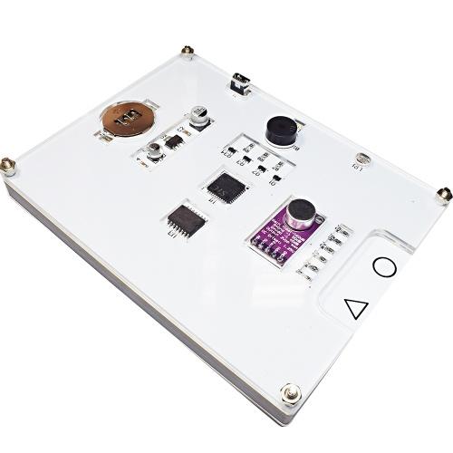 Kit elettronico fai-da-te con tavolozza colori RGB a spettro musicale LED multifunzione