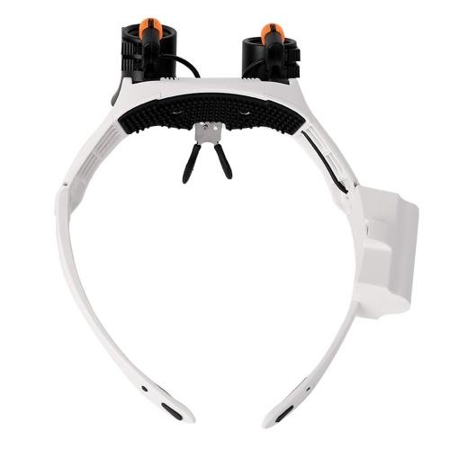 Image of Warmes und kaltes LED-Licht Lampe Doppel-Brillen Lupe Juwelier Uhr Reparatur Messung Top-Mounted Lupe