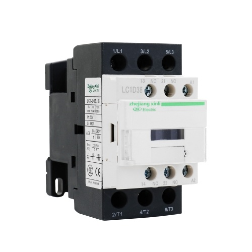 AC Connector Electric 220V 50/60Hz Poles Coil AC Modular Contactor LC1-D High Sensitivity Strong Conductivity