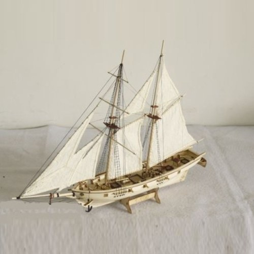 DIY Ship Assembly Model Kits Wooden Sailing Boat Scale Model Decoration Toys Gifts for Kids Adults