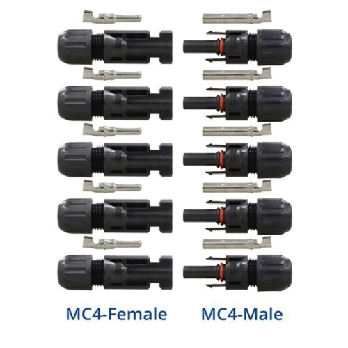 5 Pairs MC4 Portable Waterproof Male/Female Pin Connector Photovoltaic Module Solar Panel Connector