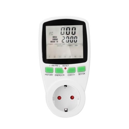 AC Power Meters Digital Wattmeter Energy Meter Watt Monitor Electricity Cost Diagram Measuring Socket Analyzer