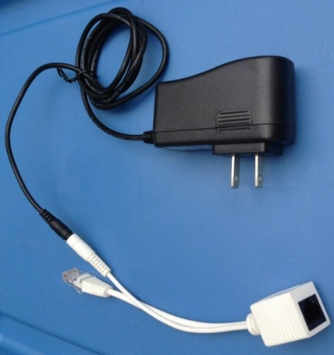 Cafago coupon: Power Over Ethernet Passive PoE Adapter Injector + Splitter Kit PoE Cable Black