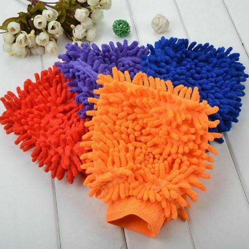 Car Wash Washing Microfiber Chenille Mitt Auto Cleaning Glove Dust Washer Best