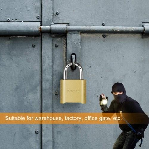 Master Lock Combination Password Lock Heavy Duty Outdoor Lock Warehouse Factory Gate Password Padlock Brass Finish 875D