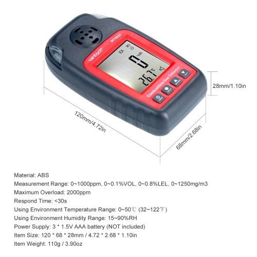 wintact WT8825 Carbon Monoxide Detector Digital LCD CO Gas Tester Carbon Monoxide Detecting Gauge