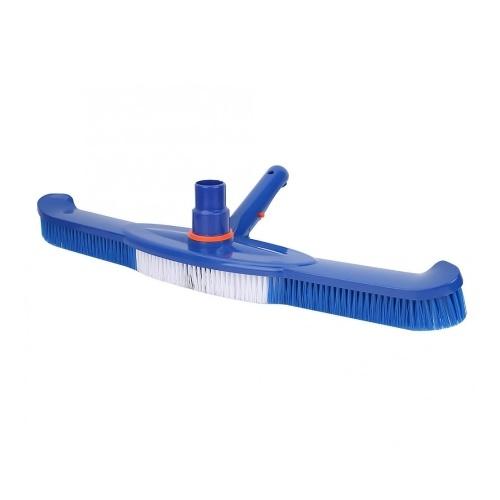 """Spazzola per piscina da 20 """"per uso intensivo Spazzola per spazzole con strumento per la pulizia del connettore del tubo fisso per pavimenti in piastrelle per pareti"""