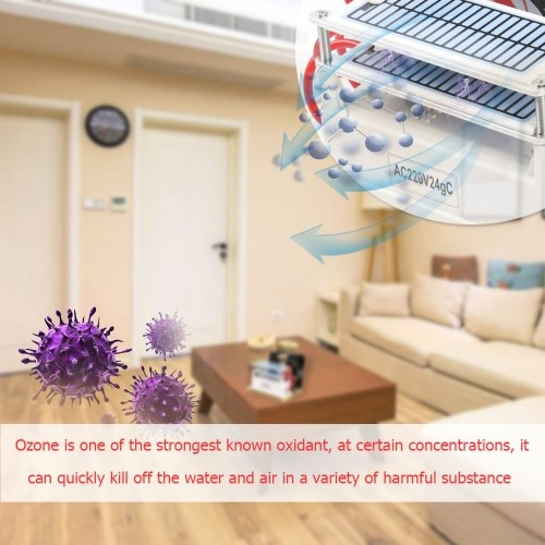 Portable Ozone 24g/h Generator Formaldehyde Remove Machine Air Filter Purifier Fan For Home Car