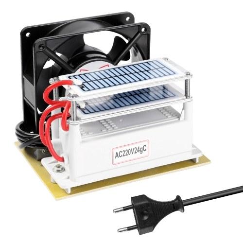 携帯用オゾン24g / hの発電機のホルムアルデヒドは家の車のための機械エアフィルターの清浄器ファンを取除きます