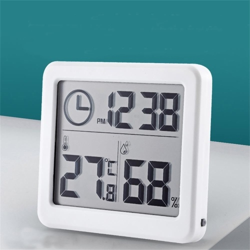 LCD Digital Indoor Thermometer Hygrometer Room Temperature Humidity Gauge Meter Thermo-Hygrometer Home Thermometer Indoor Hygrometer