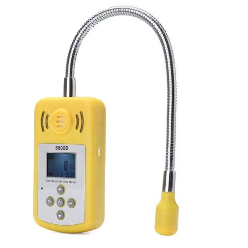 プロの可燃性ガス検出器携帯用ガス漏れ場所決定で液晶ディスプレイと警報音光テスター