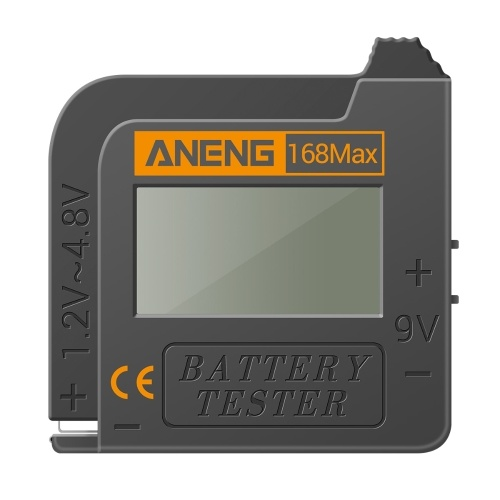 Probador de batería ANENG Probador de pantalla digital 168MAX Comprobador de voltaje de batería Herramienta de prueba de capacidad de batería Probador universal para verificar la batería del botón AAA AA