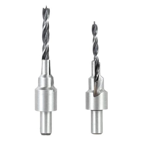 2 2pcs/conjunto flauta escareador Drill Bit definido com rápida mudança Hex haste Awesome Woodworking chanfro tamanho 4 / 6mm e 5 / 7mm