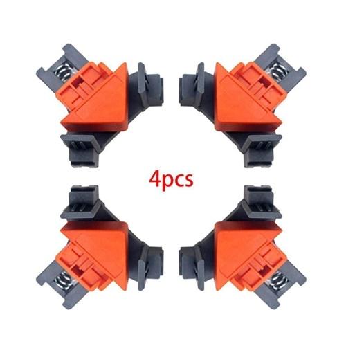 4PCS90度ポジショニングスクエア木工用カーペンターコーナークランプピクチャードロワーポータブル用直角クランプ