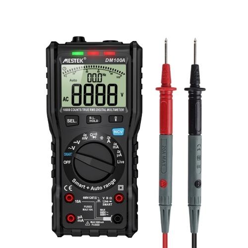 MESTEKDM100Aデジタルマルチメーターユニバーサルメーター10000カウントAC / DC電圧AC / DC電流抵抗静電容量測定