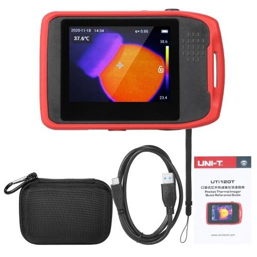 UNI-T Pocket Thermal Imager Dispositif de capture d'image à contrôle tactile Écran tactile capacitif LCD rechargeable de 3,5 pouces -20 ~ 400 ℃ Mesure de température