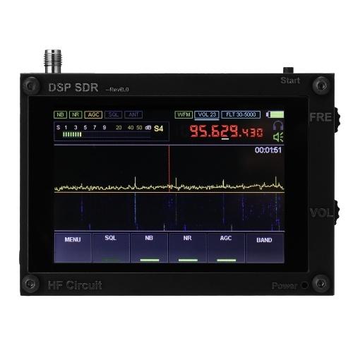 50KHz-200MHz Display IPS tattile da 3,5 pollici Display zoom AM SSB NFM WFM Modulazione ana-log RF CW DSP SDR HAM Ricevitore wireless Funzione di controllo retroilluminazione Supporto Banda UHF Ricevitori wireless (batteria incorporata)