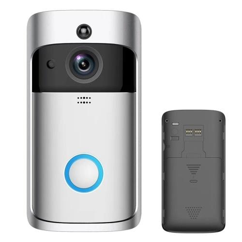 Drahtlose intelligente Türklingel 720P Kamera WiFi Visual Video Telefon Türklingel 2-Wege-Audio Video Video Türklingel Unterstützung Infrarot Nachtsicht PIR Bewegungssensor APP Fernbedienung