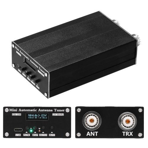 HY100 1,8-30 MHz 0,91 Zoll OLED-Bildschirm HAM Tester Mini Automatischer Antennentuner Funkgerät Komponente Sieben Kondensator Sieben Induktor