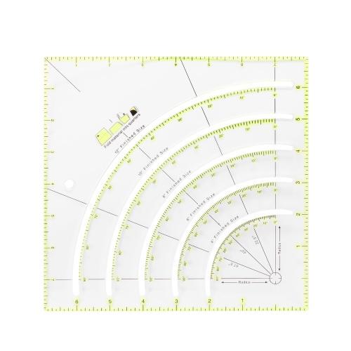 Reglas de corte de regla multiángulo multifunción portátil, regla de trabajo de parche, herramienta auxiliar de costura para el hogar, herramienta de bricolaje