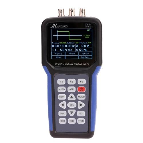 Handheld Multi-functional Digital Oscilloscope + Signal Generator Portable Scope Meter 20MHz Bandwidth 200MSa/s 1CH TFT LCD Display