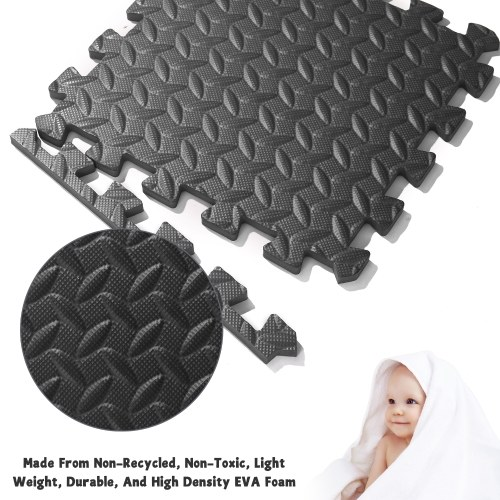 8pcs Soft Children Playing Mat EVA Foam Interlocking Mat Home Gym Tiles Floor Protective Pads Floor Foam Mats