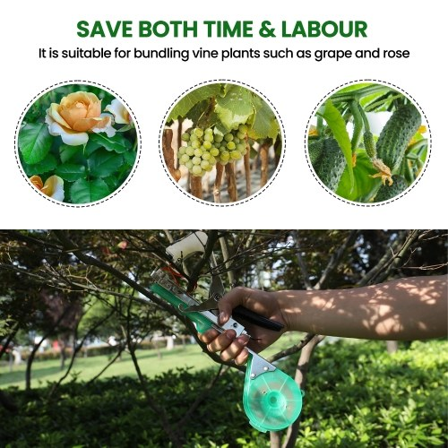 Portable Garden Plant Branch Binding Machine Plants Branches Hand Tying Tool Home Garden Tape Tool