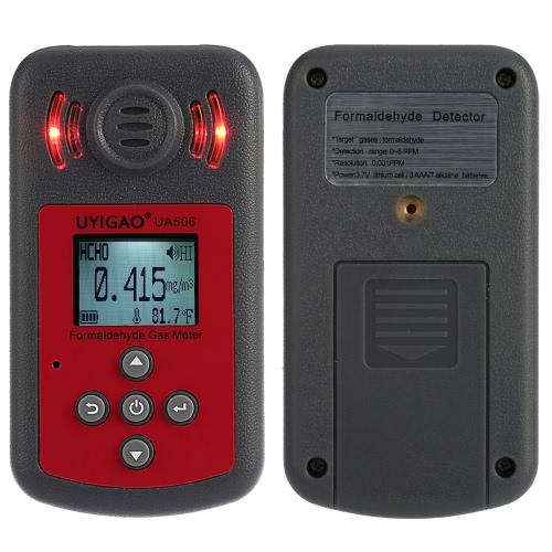 UYIGAO Brand New Ручной портативный измеритель для PPM HTV Цифровой тестер Формальдегид Метаналь концентрационного Монитор детектор с ЖК-дисплеем звуковой и световой сигнализации