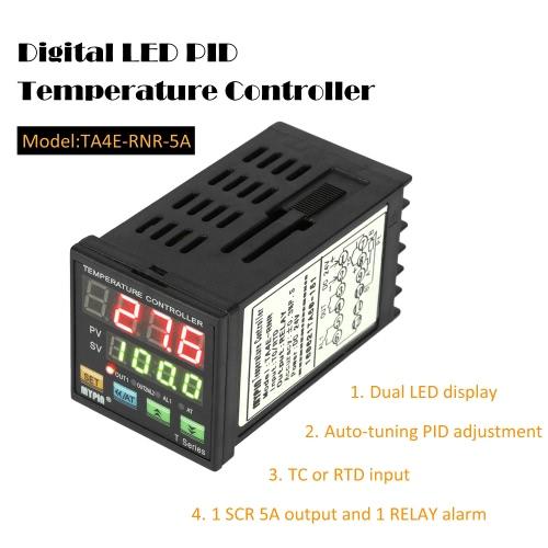 Intelligent Digital LED PID Contrôleur de température Thermomètre Coil Heater Chauffage Refroidissement Entrée SCR Sortie alarme 1 relais de commande TC / RTD