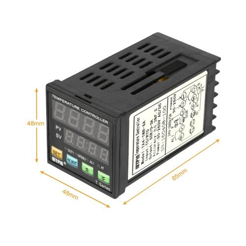 Digital Intelligent temperatura LED Regolatore PID termometro Coil Heater Riscaldamento Raffreddamento controllo TC / RTD ingresso SCR Uscita allarme 1 Relè