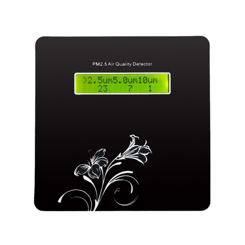 LCD haute précision numérique PM2.5 qualité de l'air Détecteur PM1.0 PM10 Concentration de particules Capteur Température Humidité Instrument de mesure de surveillance de l'environnement
