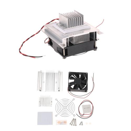 DIY термоэлектрический Пельтье Охлаждение Охлаждение Проводимость модуль системы Kit Semiconductor Cooler + радиатор + вентилятор + TEC1-12706 фото