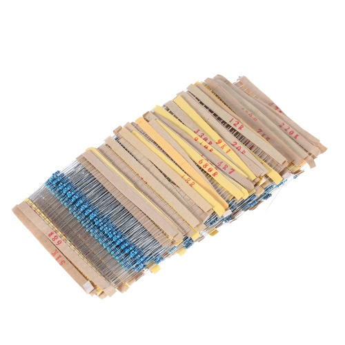 2000pcs 1/4W 100 Values 1 ohm to 1M ohm Metal Film Resistors Assortment Kit Electronic Components