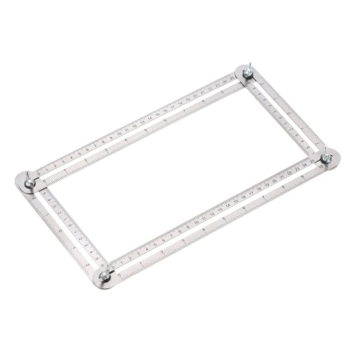 Métal Multi-Angle Ruler Template Tool Mesures All Angles Forms Angle-izer pour Handymen Builders Craftsmen Espacement répétitif
